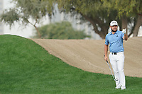 Tyrrell Hatton (ENG) in action during the first round of the Omega Dubai Desert Classic, Emirates Golf Club, Dubai, UAE. 24/01/2019<br /> Picture: Golffile | Phil Inglis<br /> <br /> <br /> All photo usage must carry mandatory copyright credit (&copy; Golffile | Phil Inglis)
