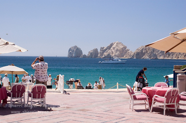 View of Land's End from Pueblo Bonito Rose' Resort, Cabo San Lucas, Baja California, Mexico