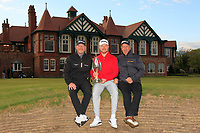Joshua McMahon (Wallisey) with his Father and Grand-father after winning of the Lytham Trophy 2019, held at Royal Lytham & St. Anne's, Lytham, Lancashire, England. 05/05/19<br /> <br /> Picture: Thos Caffrey / Golffile<br /> <br /> All photos usage must carry mandatory copyright credit (© Golffile | Thos Caffrey)