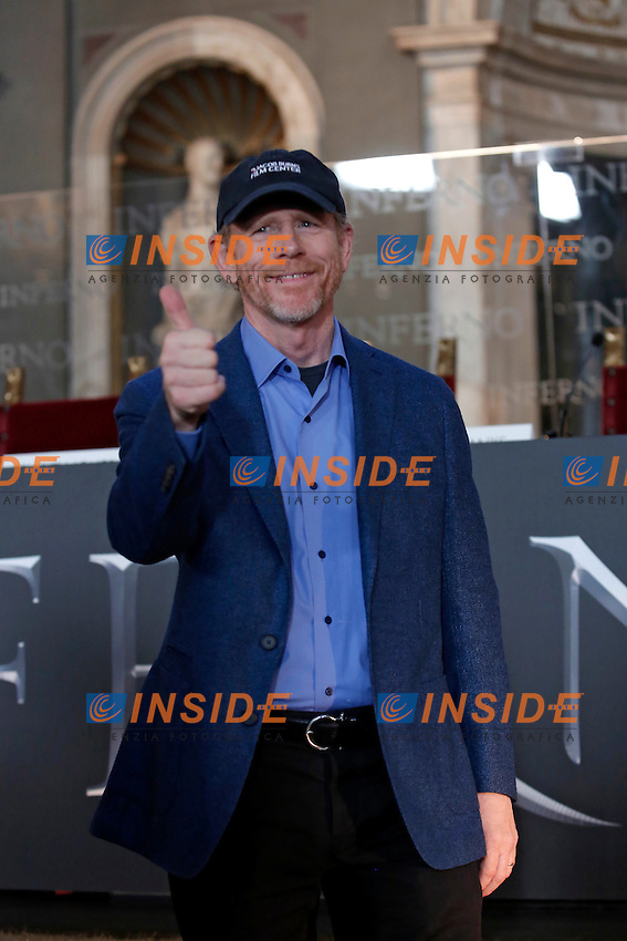 Ron Howard<br /> Firenze 06-10-2016. Photocall del film 'Inferno' in anteprima mondiale.<br /> Rome 6th October 2016. 'Inferno' Photocall<br /> Foto Samantha Zucchi Insidefoto