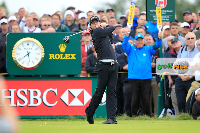 Rory McIlroy (NIR) tees off the 14th tee during Thursday's Round 1 of the 141st Open Championship at Royal Lytham & St.Annes, England 19th July 2012 (Photo Eoin Clarke/www.golffile.ie)