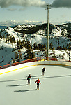California: Tahoe area in winter.  Skating at Squaw Valley. Photo calski101..Photo copyright Lee Foster, 510/549-2202,  lee@fostertravel.com, www.fostertravel.com