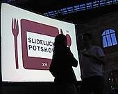 Slideluck Potshow is a non profit organization based out of NYC that produces potluck dinners followed by a multimedia slide show of photographic arts.  It operates globally bringing together people art and food.