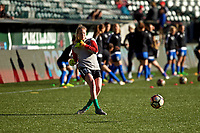 Portland, OR - Saturday May 06, 2017: Britt Eckerstrom prior to a regular season National Women's Soccer League (NWSL) match between the Portland Thorns FC and the Chicago Red Stars at Providence Park.
