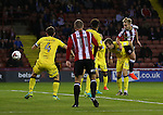 Harry Chapman of Sheffield Utd scores the first goal during the League One match at Bramall Lane Stadium, Sheffield. Picture date: September 27th, 2016. Pic Simon Bellis/Sportimage