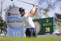 Alfredo Garcia-Heredia (ESP) on the 10th tee during the second round of the Mutuactivos Open de Espana, Club de Campo Villa de Madrid, Madrid, Madrid, Spain. 04/10/2019.<br /> Picture Hugo Alcalde / Golffile.ie<br /> <br /> All photo usage must carry mandatory copyright credit (© Golffile | Hugo Alcalde)