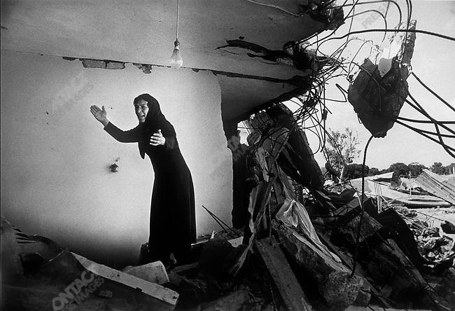Sabra Palestinian camp after massacre by Christian militia, Sabra, Beirut, Lebanon, 1982