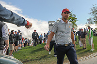 Kevin Chappell (USA) makes his way to 4 during round 3 Four-Ball of the 2017 President's Cup, Liberty National Golf Club, Jersey City, New Jersey, USA. 9/30/2017.<br /> Picture: Golffile | Ken Murray<br /> <br /> All photo usage must carry mandatory copyright credit (&copy; Golffile | Ken Murray)