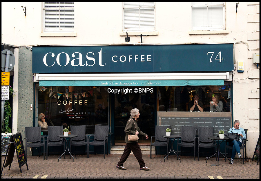 BNPS.co.uk (01202 558833)<br /> Pic:  RogerArbon/BNPS<br /> <br /> Coast Coffee.<br /> <br /> A retirement town that is overspilling with coffee shops is to get its 15th after officials lost their bid to put a lid on them.<br /> <br /> Councillors in Christchurch, Dorset, refused a Coffee#1 permission to take over an empty shop because the town had too many cafes.<br /> <br /> But the national chain appealed the decision and have won their case.<br /> <br /> It means there will now be 15 coffee shops in a 500 metre stretch of the High Street - or one every 33 metres.