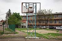 Serbia. Leskovac is a city and the administrative center of the Jablanica District in southern Serbia. « Petar Tasir » Elementary School. The school's students are all from Romani ethnicity. A broken basketball backboard on the school's playground. The Romani (also spelled Romany) or Roma, Roms or Gypsies, are a traditionally itinerant ethnic group. The Pestalozzi Children's Foundation (Stiftung Kinderdorf Pestalozzi) is advocating access to high quality education for underprivileged children. It supports in Leskovac a project called » Together in transition ».18.4.2018 © 2018 Didier Ruef for the Pestalozzi Children's Foundation