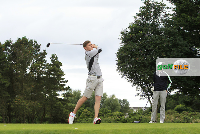 Marc McKinstry (Cairndhu) on the 15th tee during R2 of the 2016 Connacht U18 Boys Open, played at Galway Golf Club, Galway, Galway, Ireland. 06/07/2016. <br /> Picture: Thos Caffrey | Golffile<br /> <br /> All photos usage must carry mandatory copyright credit   (&copy; Golffile | Thos Caffrey)