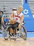 November 18 2011 - Guadalajara, Mexico:  David Eng of Team Canada controls the ball in the CODE Alcalde Sports Complex at the 2011 Parapan American Games in Guadalajara, Mexico.  Photos: Matthew Murnaghan/Canadian Paralympic Committee