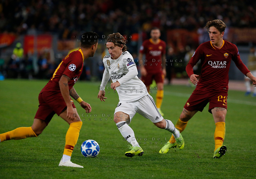 Luka Modric of Real Madrid  during the Champions League Group  soccer match between AS Roma - Real Madrid  at the Stadio Olimpico in Rome Italy 27 November 2018