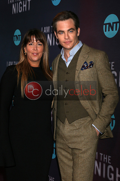"""Patty Jenkins, Chris Pine<br /> at the """"I Am The Night"""" Premiere, Harmony Gold Theater, Los Angeles, CA 01-24-19<br /> David Edwards/DailyCeleb.com 818-249-4998"""