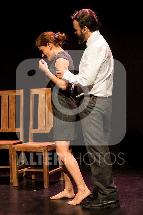 Adriana Davidova and Liberto Rabal during the theater play of &quot;Hacia el amor&quot; at Teatros Luchana in Madrid, March 01, 2016<br /> (ALTERPHOTOS/BorjaB.Hojas