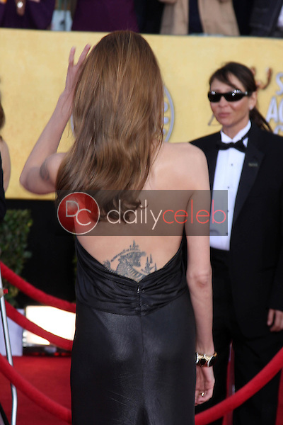 Angelina Jolie<br /> at the 18th Annual Screen Actors Guild Awards Arrivals, Shrine Auditorium, Los Angeles, CA 01-29-12<br /> David Edwards/DailyCeleb.com 818-249-4998