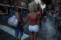 People attend the annual Gay pride parade in New York on June 29, 2014 in New York City. Kena BetancurVIEWpress