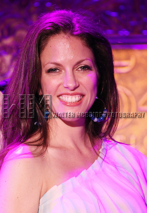 Hilary Kole.performing at the 54 Below press preview on August 7, 2012 in New York City.