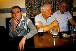Long term unemployed men living on state benefits, down the pub looking depressed Mountain Ash Wales. 1998, 1990s