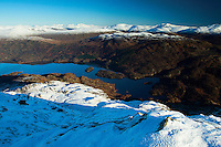 Loch Katrine from Ben Venue, Southern Highlands, Loch Lomond and the Trossachs National Park, Stirlingshire