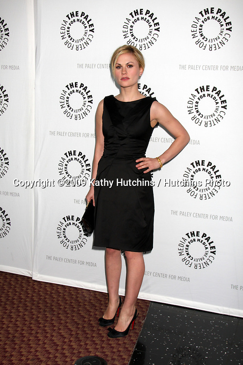 """Anna Paquin  arriving at the """"True Blood"""" PaleyFest09 event on April 13 ,2009 at the ArcLight Theaters in Los Angeles, California..©2009 Kathy Hutchins / Hutchins Photo....                ."""