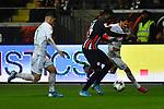 06.10.2019, Commerzbankarena, Frankfurt, GER, 1. FBL, Eintracht Frankfurt vs. SV Werder Bremen, <br /> <br /> DFL REGULATIONS PROHIBIT ANY USE OF PHOTOGRAPHS AS IMAGE SEQUENCES AND/OR QUASI-VIDEO.<br /> <br /> im Bild: Milot Rashica (SV Werder Bremen #7) und Leonardo Bittencourt (SV Werder Bremen #10) gegen Danny da Costa (Eintracht Frankfurt #24)<br /> <br /> Foto © nordphoto / Fabisch