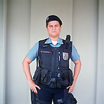Patrol officer Michelle Soares, 27<br /> Rapid Response Team<br /> Pacifying Police Unit<br /> Complexo do Caju, Rio de Janeiro, Brazil