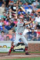 Mitchell Hansen (16) of Plano High School in Plano, Texas during the Under Armour All-American Game on August 16, 2014 at Wrigley Field in Chicago, Illinois.  (Mike Janes/Four Seam Images)