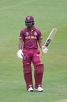 \wi17' acknowledges his half century during West Indies vs New Zealand, ICC World Cup Warm-Up Match Cricket at the Bristol County Ground on 28th May 2019