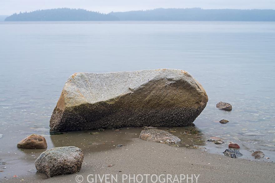 Beach rocks on Hood Canal, Washington