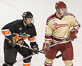 Kyle Hagel, Andrew Thomas - The Princeton University Tigers defeated the University of Denver Pioneers 4-1 in their first game of the Denver Cup on Friday, December 30, 2005 at Magness Arena in Denver, CO.