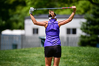 Gerina Piller (USA) stretches on her way to the chipping area before Sunday's final round of the 2017 KPMG Women's PGA Championship, at Olympia Fields Country Club, Olympia Fields, Illinois. 7/2/2017.<br /> Picture: Golffile | Ken Murray<br /> <br /> <br /> All photo usage must carry mandatory copyright credit (&copy; Golffile | Ken Murray)
