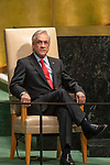LOS general debate – 27 September<br /> <br /> AM<br /> <br /> His Excellency Sebastián Piñera Echeñique, President, Republic of Chilei