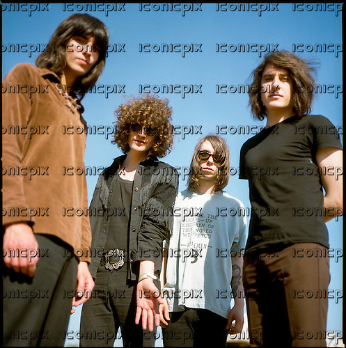 TEMPLES - L-R: Thomas Edward James Warmsley, James Edward Bagshaw,  Samuel Lloyd Toms, Adam Smith - Photosession at the Austin Psych Fest in Austin Texas USA - 18 Apr 2014.  Photo credit: Boris Allin/Dalle/IconicPix