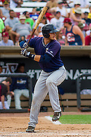 Lake County Captains catcher Martin Cervenka (13) at the plate during a Midwest League game against the Wisconsin Timber Rattlers on July 24, 2016 at Fox Cities Stadium in Appleton, Wisconsin. Lake County defeated Wisconsin 6-2. (Brad Krause/Four Seam Images)