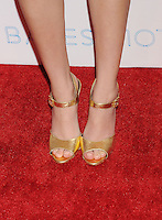WWW.BLUESTAR-IMAGES.COM   Actress Olivia Cooke (shoe detail) at the premiere party for A&E's Season 2 of 'Bates Motel' and the series premiere of 'Those Who Kill' at Warwick on February 26, 2014 in Los Angeles, California.<br /> Photo: BlueStar Images/OIC jbm1005  +44 (0)208 445 8588