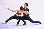 Hyung Tae Kim and Su Yeon Kim of South Korea compete in Pairs group during the Asian Open Figure Skating Trophy 2017 on August 03, 2017 in Hong Kong, China. Photo by Marcio Rodrigo Machado / Power Sport Images