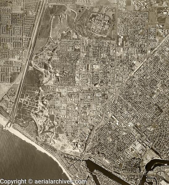 historical aerial photograph Costa Mesa, 1972