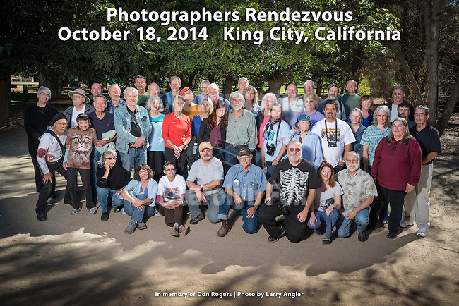 Group photo of the 26th Photographers Rendezvous at San Lorenzo Park, King City, Calif.<br /> <br /> A weekend of photographer fellowship, stories, viewing photographs