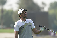Victor Dubuisson (FRA) in action during the third round of the Omega Dubai Desert Classic, Emirates Golf Club, Dubai, UAE. 26/01/2019<br /> Picture: Golffile | Phil Inglis<br /> <br /> <br /> All photo usage must carry mandatory copyright credit (© Golffile | Phil Inglis)