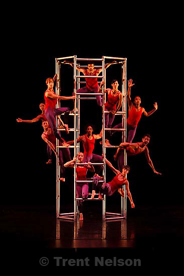 """Salt Lake City - Ririe-Woodbury is reviving a classic Alwin Nikolais' dance piece, """"Tower."""" The production opens September 25th. This photo was taken during on Tuesday, September 16, 2008."""