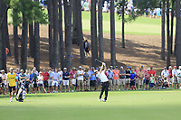 Jon Rahm (ESP) plays his 2nd shot on the 2nd hole during Friday's Round 2 of the 2017 PGA Championship held at Quail Hollow Golf Club, Charlotte, North Carolina, USA. 11th August 2017.<br /> Picture: Eoin Clarke | Golffile<br /> <br /> <br /> All photos usage must carry mandatory copyright credit (&copy; Golffile | Eoin Clarke)
