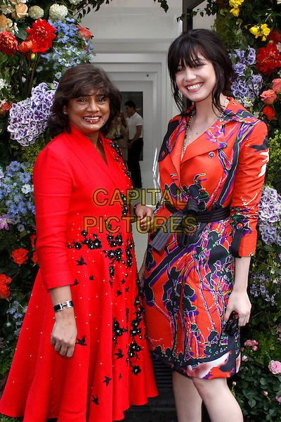 LONDON, ENGLAND - JUNE 03 :  Vanessa Gounden and Daisy Lowe arrive at the Vanessa Gounden - flagship store launch party at the Vanessa Gounden store on June 03, 2015 in London, England.<br /> CAP/AH<br /> &copy;AH/Capital Pictures