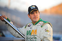 Apr 16, 2009; Avondale, AZ, USA; NASCAR Camping World Series West driver Steve Park prior to the Jimmie Johnson Foundation 150 at Phoenix International Raceway. Mandatory Credit: Mark J. Rebilas-