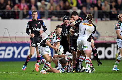04.04.2014. Paris, France. Amlin Challenge Cup Rugby. Stade Francais versus Harlequins.  Danny Care (har)