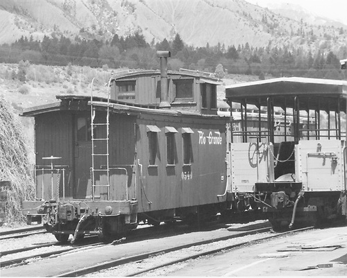 Long caboose #0540.<br /> D&amp;RGW  probably Durango, CO