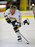 7 February 2009: University of Vermont Catamount forward Justin Milo, a Sophomore from Edina, MN, in action against the Providence College Friars during the second game of a weekend series at Gutterson Fieldhouse in Burlington, Vermont. The Catamounts swept the 2-game series notching 4-1 wins in both games. Mandatory Photo Credit: Ed Wolfstein Photo