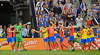 Harrison, N.J. - Friday September 01, 2017: Costa Rica goal celebration during a 2017 FIFA World Cup Qualifying (WCQ) round match between the men's national teams of the United States (USA) and Costa Rica (CRC) at Red Bull Arena.