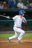 South Bend Cubs center fielder Donnie Dewees (16) at bat during a game against the Burlington Bees on July 22, 2016 at Four Winds Field in South Bend, Indiana.  South Bend defeated Burlington 4-3.  (Mike Janes/Four Seam Images)