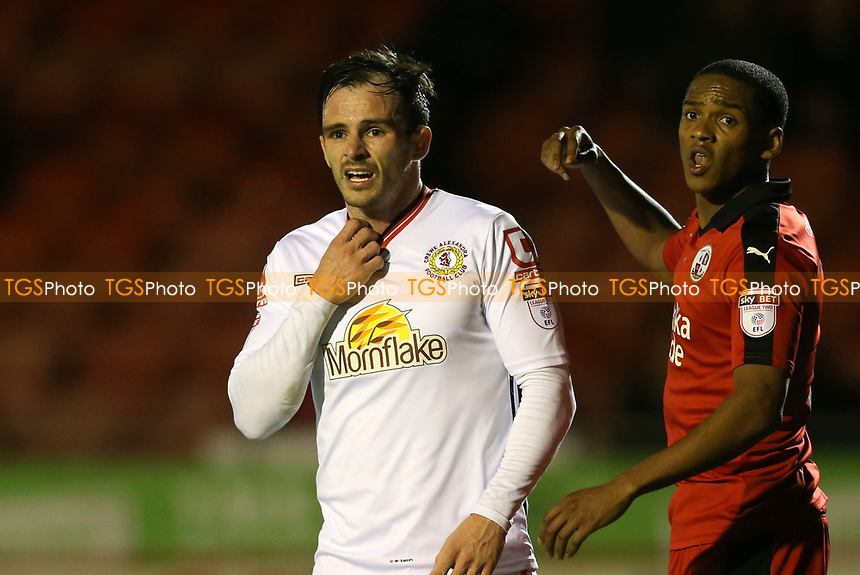 Chris Dagnall of Crewe Alexandra during Crawley Town vs Crewe Alexandra, Sky Bet EFL League 2 Football at Broadfield Stadium on 14th March 2017